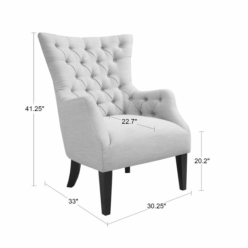 Ordinaire Steelton Button Tufted Wingback Chair