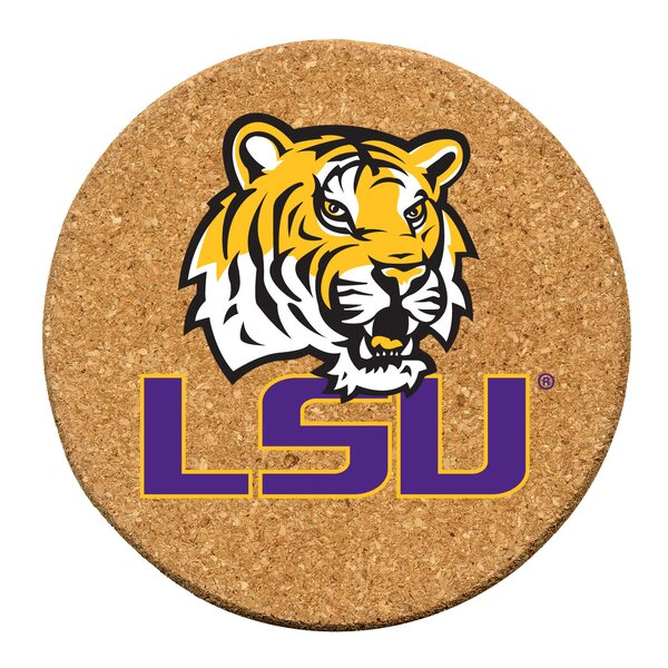 Louisiana State University Cork Collegiate Coaster Set (Set of 6) by Thirstystone
