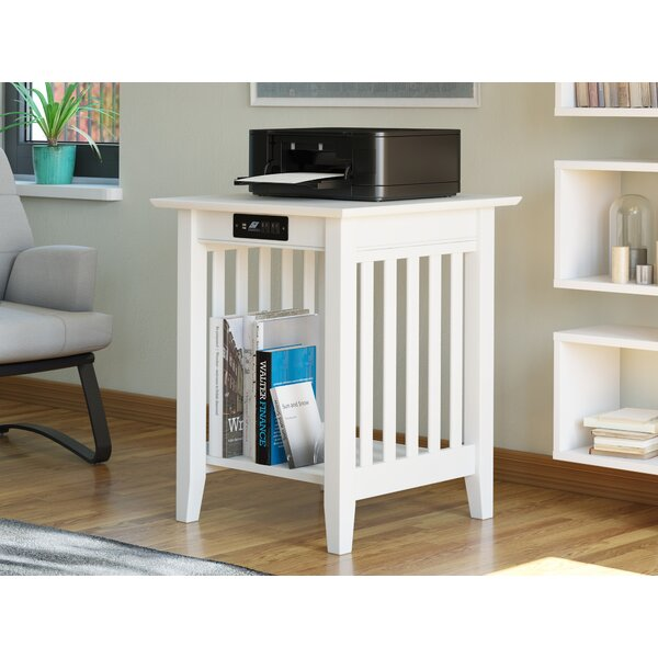 Tollett End Table with Storage and Built-In Outlets by Charlton Home Charlton Home®