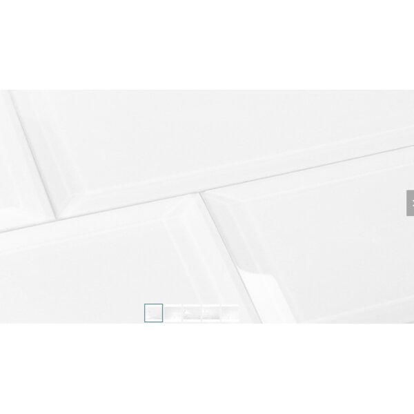 Frosted Elegance 3 x 12 Glass Subway Tiles in Glossy White by Abolos
