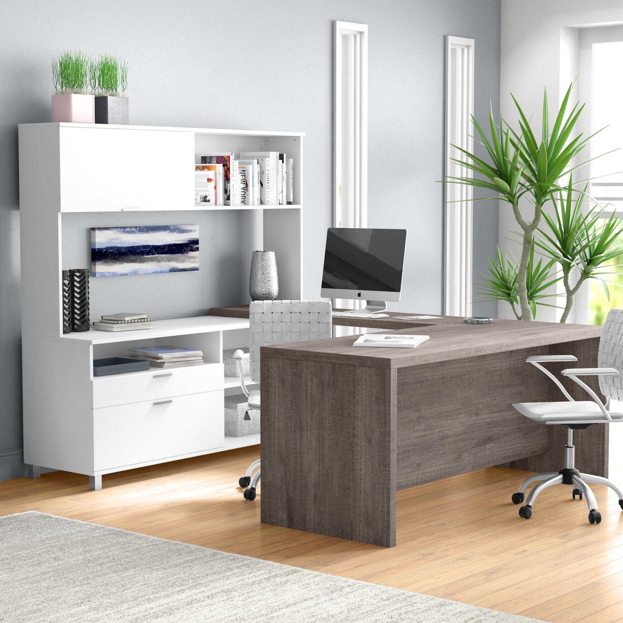 Beau Mercury Row Ariana 4 Piece U Shape Desk Office Suite U0026 Reviews | Wayfair