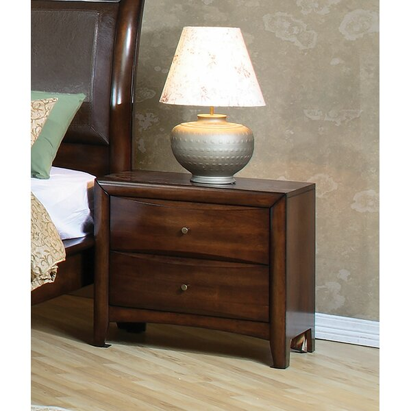 Bradshaw 2 Drawer Nightstand by Longshore Tides