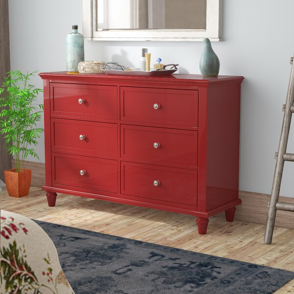 Rae 6 Drawer Double Dresser by Three Posts