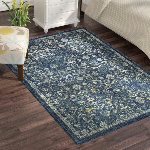 Bayou Navy/Teal Area Rug by Charlton Home