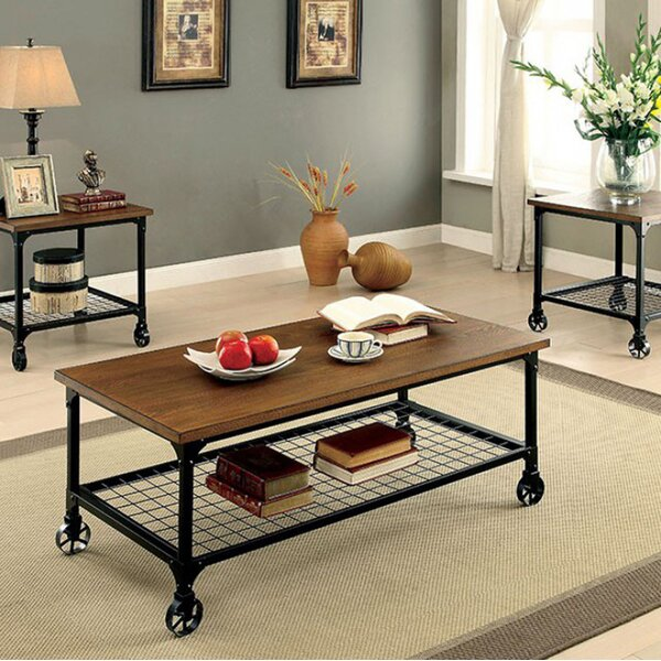 Leong 3 Piece Coffee Table Set by 17 Stories