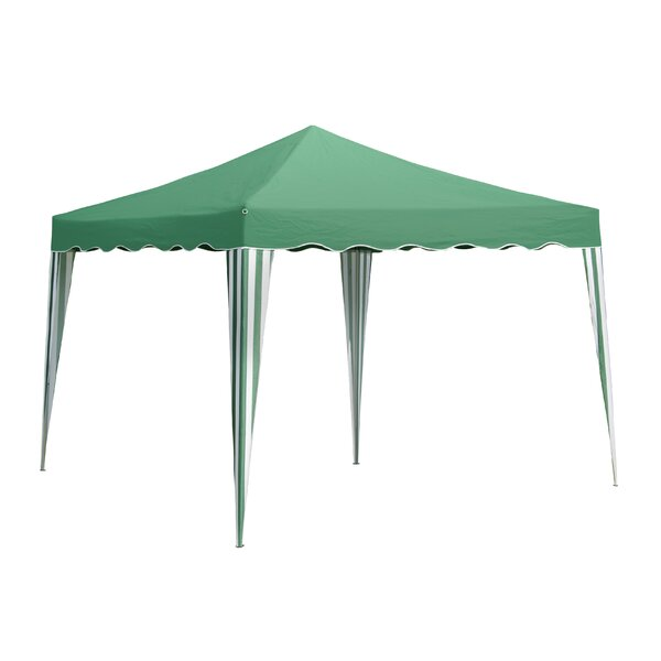 Green 6 Ft. W  x 10 Ft. D  Steel Pop-Up Canopy by SunTime Outdoor Living