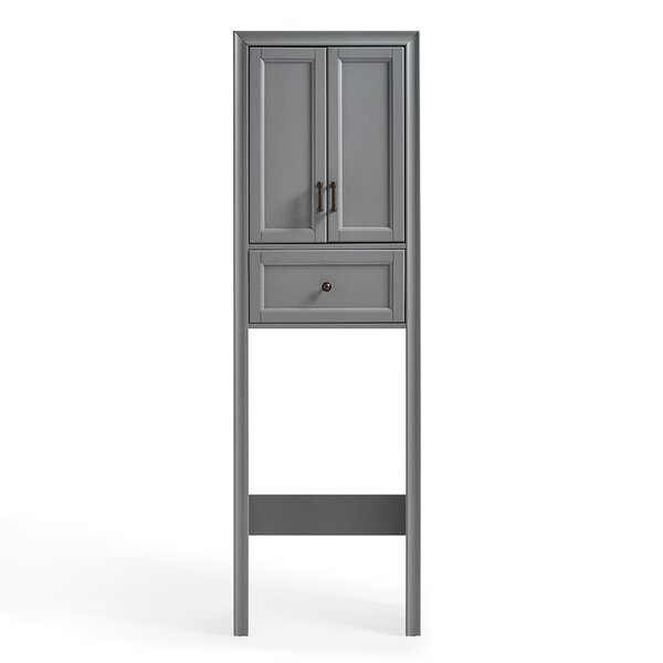 Jesse 22 W x 72 H x 11 D Solid + Manufactured Wood Free-Standing Over-the-Toilet Storage