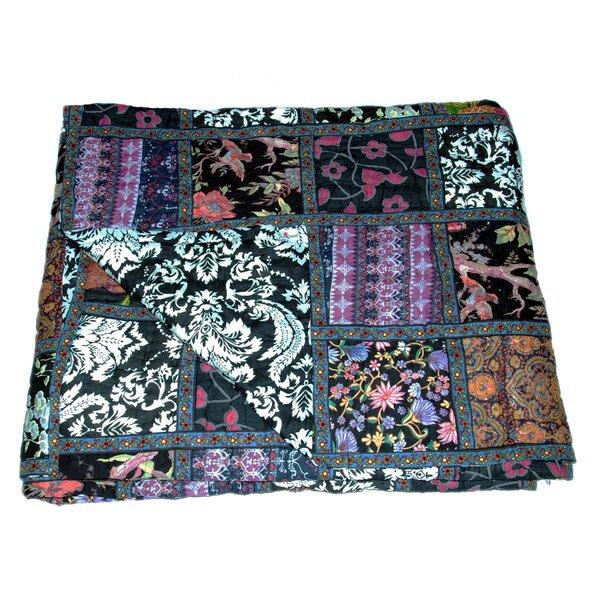 Rieder Block Print Single Reversible Quilt
