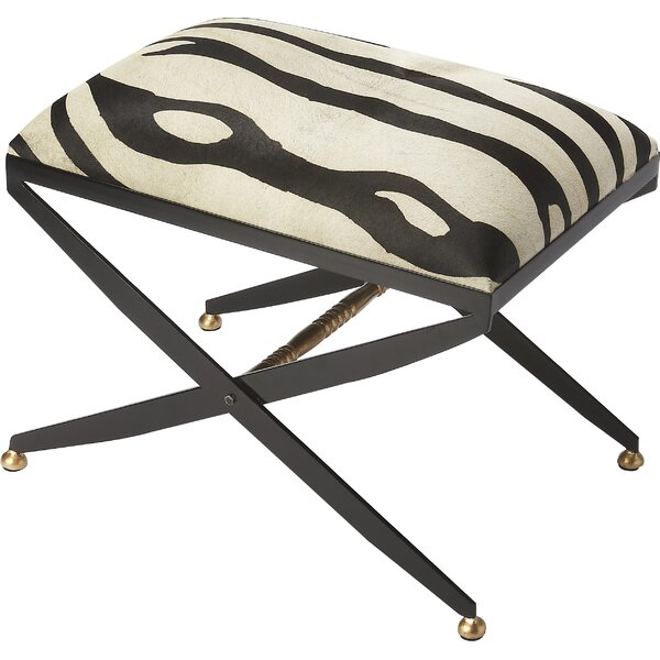 Cosmopolitan Liddy Hair-On-Hide Accent Stool by Butler