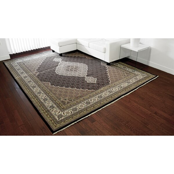 One-of-a-Kind Berit Hand-Knotted Black 11'10 x 12' Area Rug