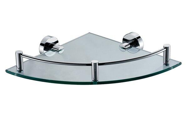 ALFI brand AB9546 Polished Chrome Corner Mounted Glass Shower Shelf Bathroom Accessory by Alfi Brand
