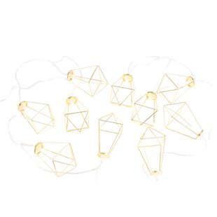 Top Brands of Max Faceted Metal Cage LED 10-Light Novelty String Light By Catalina Lighting
