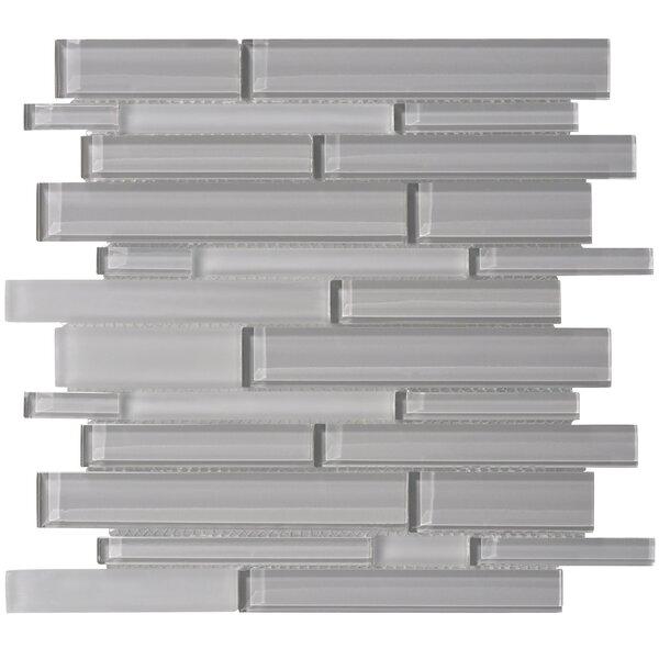 Premium Series Random Sized Glass Mosaic Tile in Dark Gray by WS Tiles