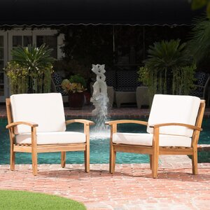 Rainier Armchair (Set of 2) by Rosecliff Heights