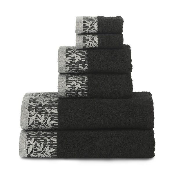 Sheila 6 Piece Cotton Towel Set by Winston Porter