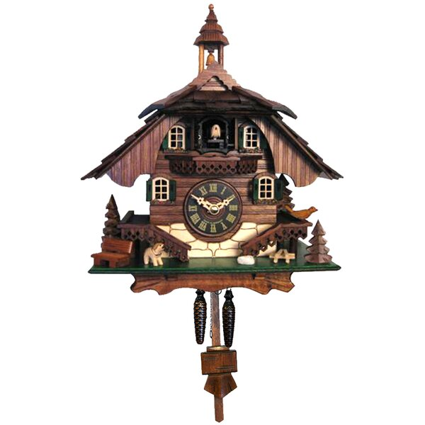 Battery-Operated Cuckoo Wall Clock With Chime by Loon Peak