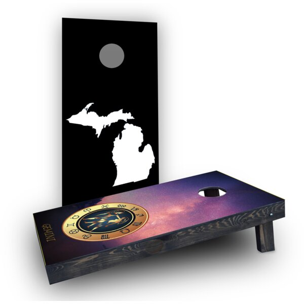 Zodiac Stars Themed Cornhole Boards (Set of 2) by Custom Cornhole Boards