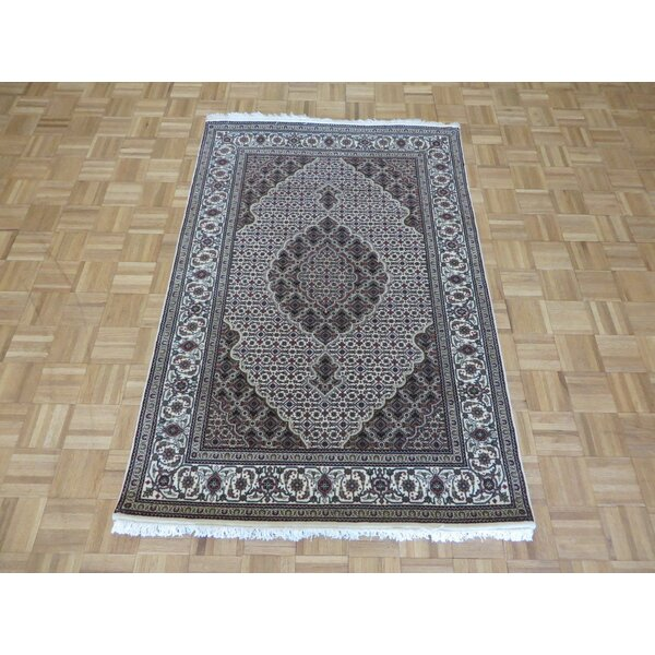 One-of-a-Kind Raiden Hand-Knotted Silk Ivory Area Rug by Astoria Grand