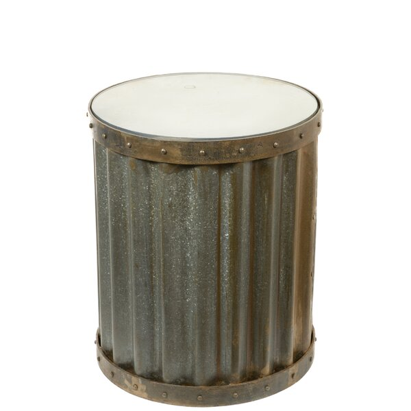 Mateo Industrial Metal Accent End Table by Williston Forge