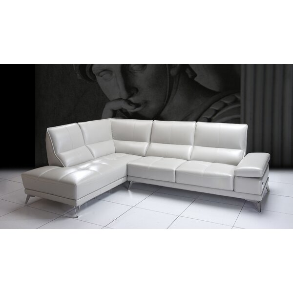 Henry Street Leather Sectional By Orren Ellis