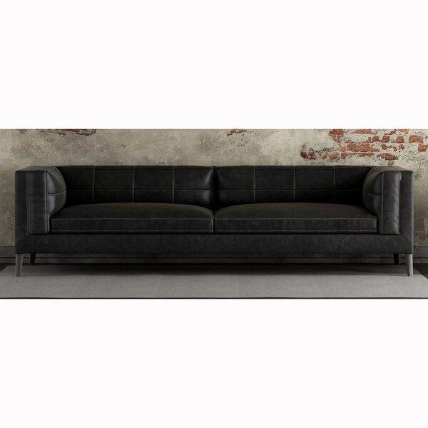 Free Shipping Zofia Top Grain Leather Sofa