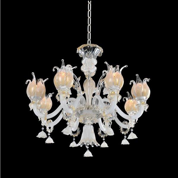 Artemisia 8-Light Shaded Chandelier by Allegri by Kalco Lighting