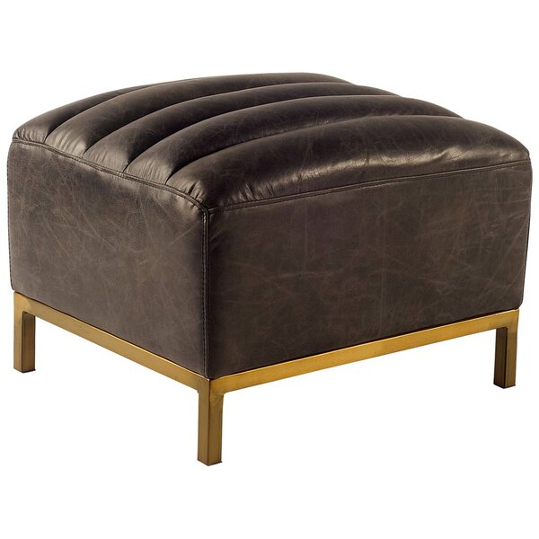 Dace Leather Ottoman by 17 Stories