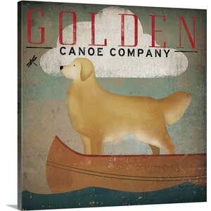 'Golden Dog Canoe Co' by Ryan Fowler Vintage Advertisement on Wrapped Canvas by Great Big Canvas