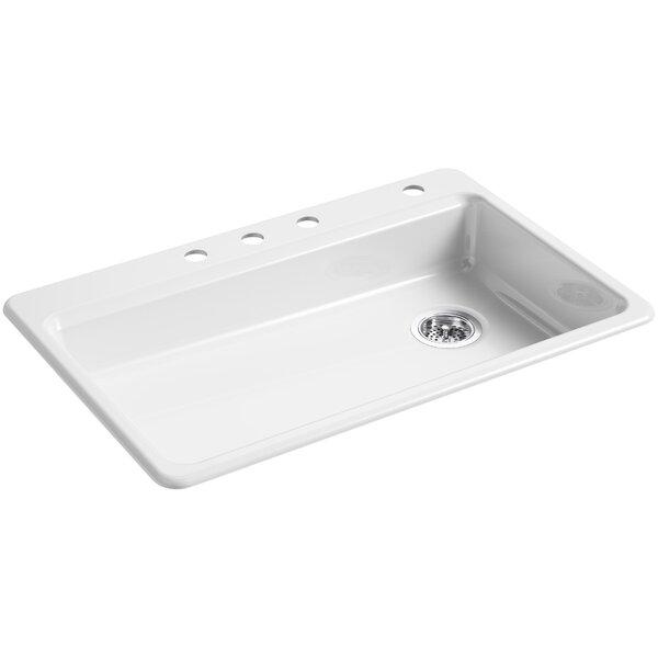 Riverby 33 L x 22 W Top Mount Single Bowl Kitchen Sink