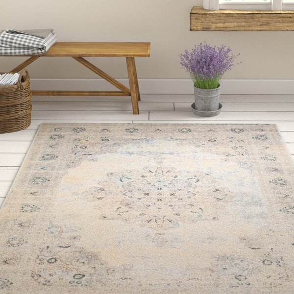 Synthia Cream Area Rug by Ophelia & Co.