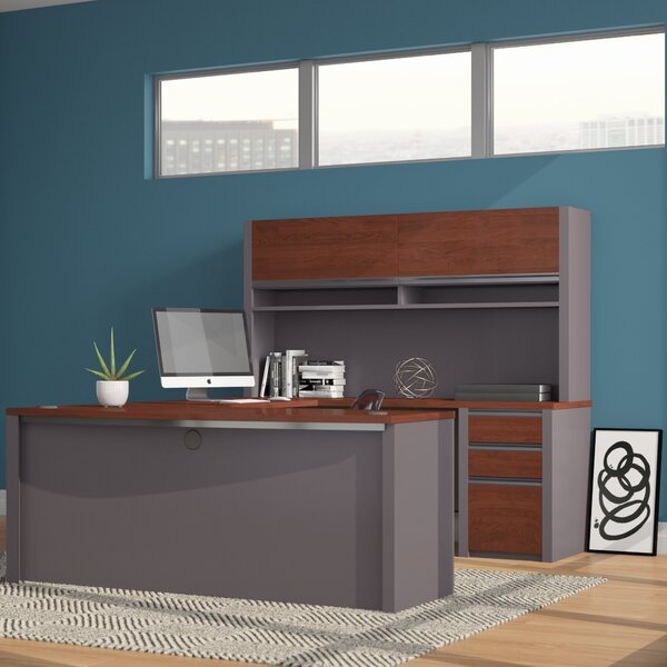 Aurea U-Shape Executive Desk with Hutch