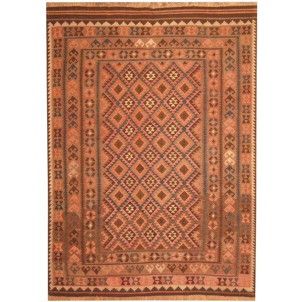 Hand-Woven Beige/Light Brown Area Rug by Herat Oriental