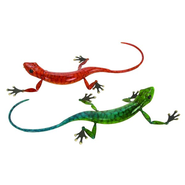Mateo Eclectic Lizard 2 Piece Sculptures Set by Bloomsbury Market