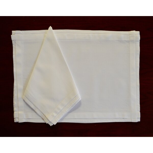 8 Piece Pleated Placemat & Napkin Set by Fino Lino