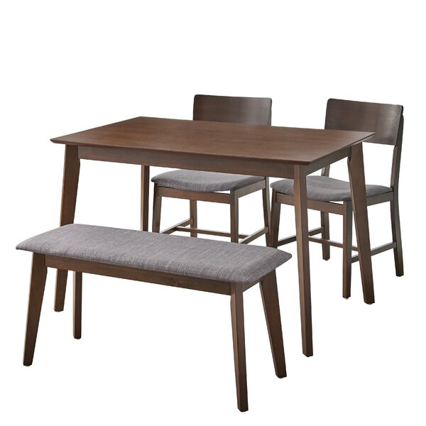Fortunata 4 Piece Dining Set by Wrought Studio