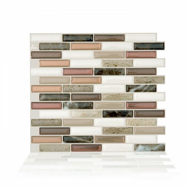 Milenza Taddio 9 x 10.20 Peel & Stick Mosaic Tile in Brown & Beige by Smart Tiles