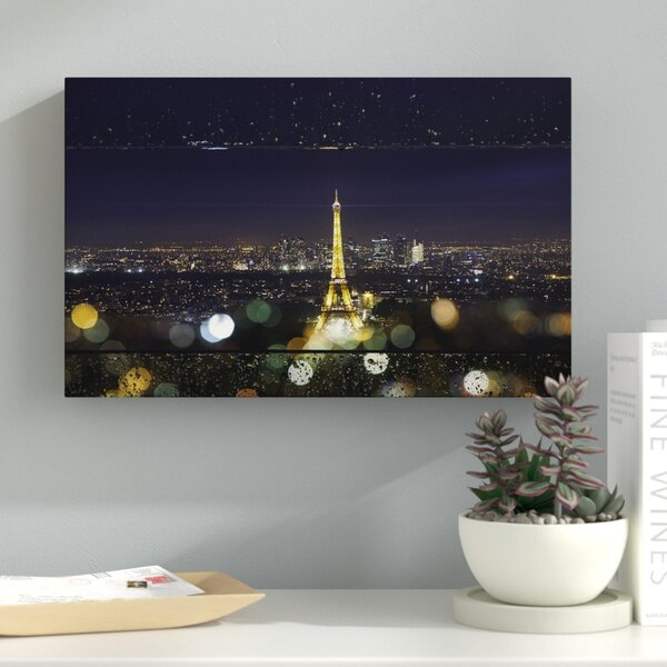 Fireworks of Rain in Paris Photographic Print on Wrapped Canvas by Latitude Run