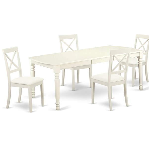 Pimentel 5 Piece Solid Wood Dining Set By August Grove Best Design
