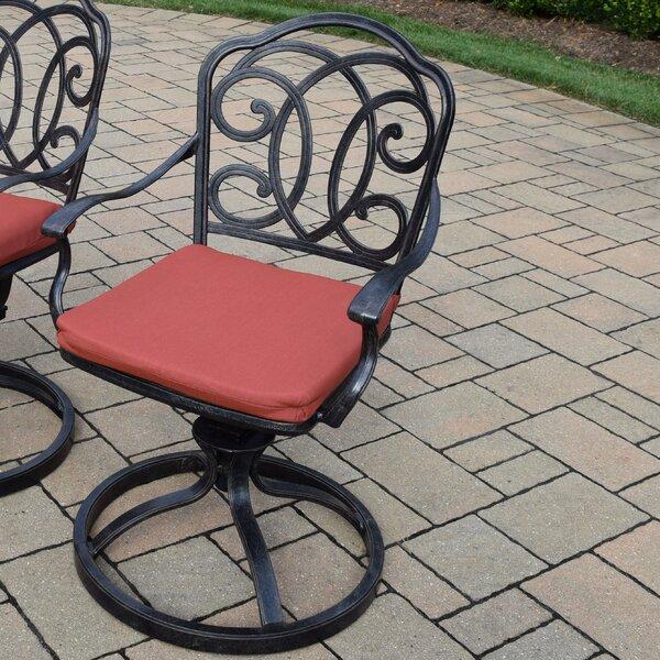 Robicheaux Patio Chair with Cushion (Set of 2) by Fleur De Lis Living