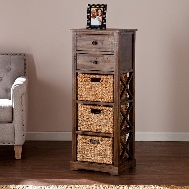 Exceptionnel Stimson 2 Drawer Storage Chest 3 Basket Storage Tower