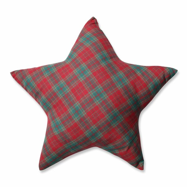 Plaid Star Throw Pillow by Pillow Perfect