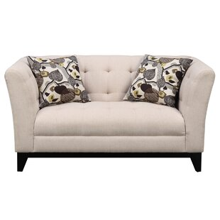 Woolfolk Chesterfield Loveseat Red Barrel Studio