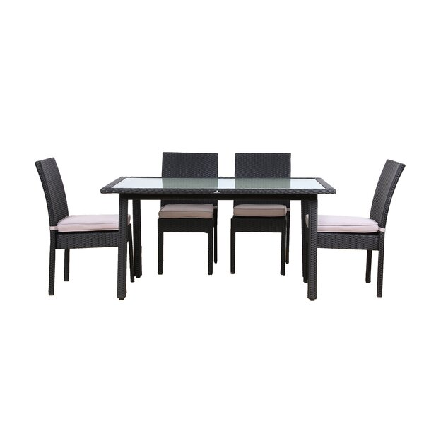 Millner 5 Piece Outdoor Dining Set with Cushions by Brayden Studio