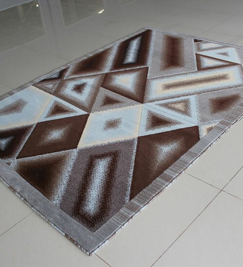Brown/Blue Area Rug by Rug Tycoon