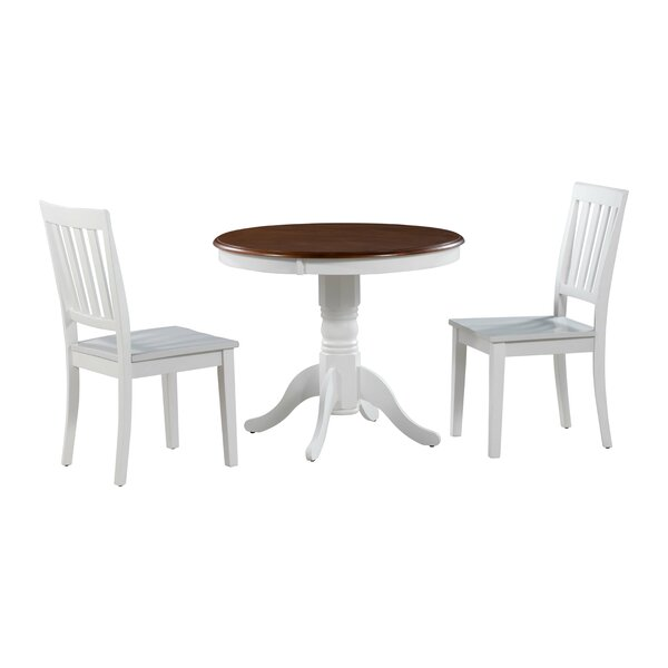 Cedarville 3 Piece Solid Wood Dining Set by Alcott Hill