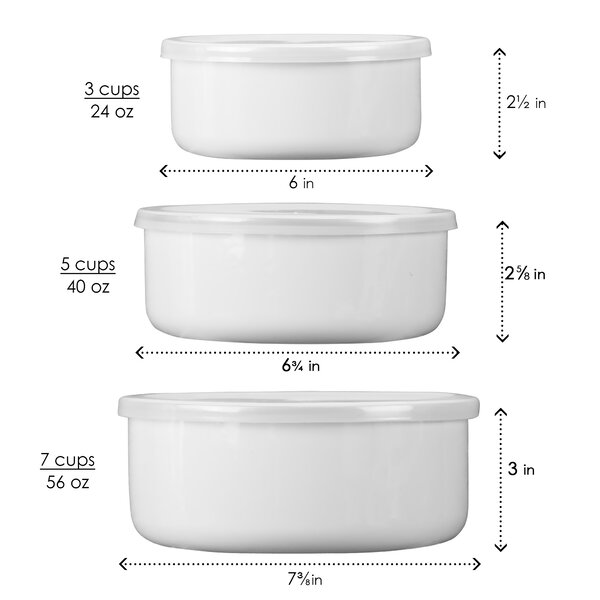 Simple Lines 3 Container Food Storage Set by Corelle