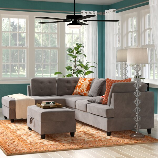 Feagin Sectional with Ottoman by Winston Porter