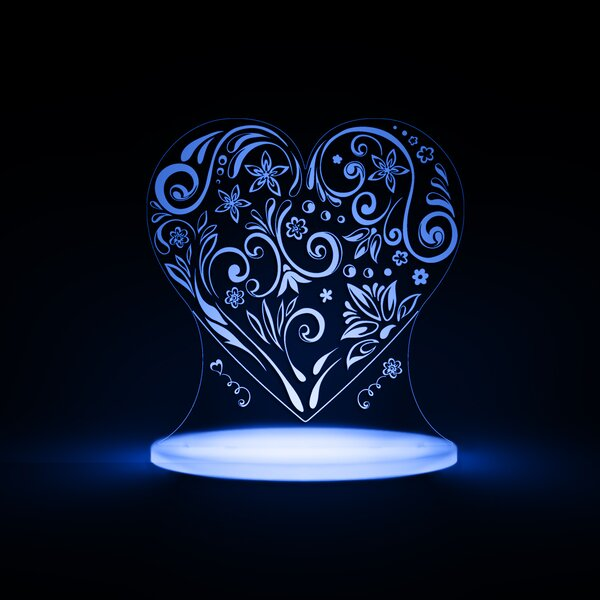 Heart LED Night Light by Total Dreamz