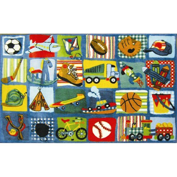 Supreme Funky Patchwork Boys Area Rug by Fun Rugs