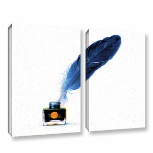 Blot 2 Piece Graphic Art on Wrapped Canvas Set by Latitude Run